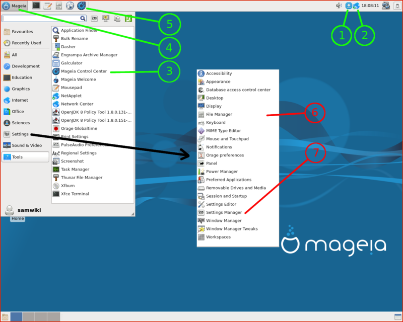 First step with Xfce - Mageia wiki