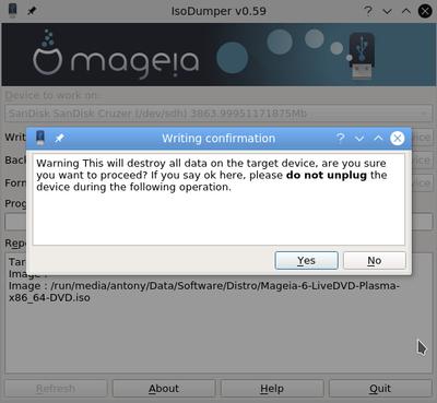 IsoDumper Writing ISO images on USB sticks - Mageia wiki